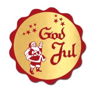 Klistersigill, God Jul, d: 40 mm, 1000 st/rulle