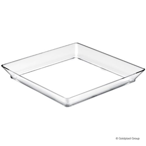Plastfat, Medium Plate, transparent, 130 mm (192 st)