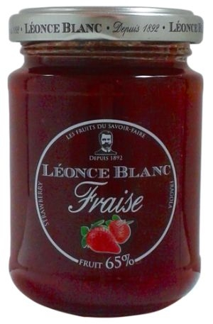 Léonce Blanc Strawberry Jam 65%, 205 g (6 st)
